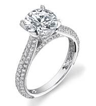 engagement ring pave